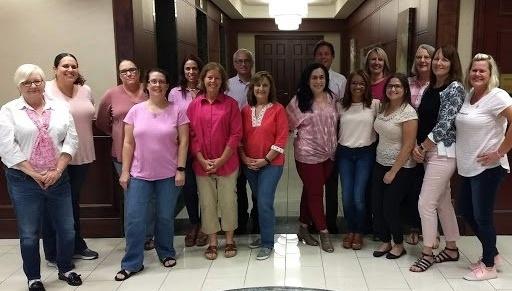 Fisher Rushmer Wearing Pink